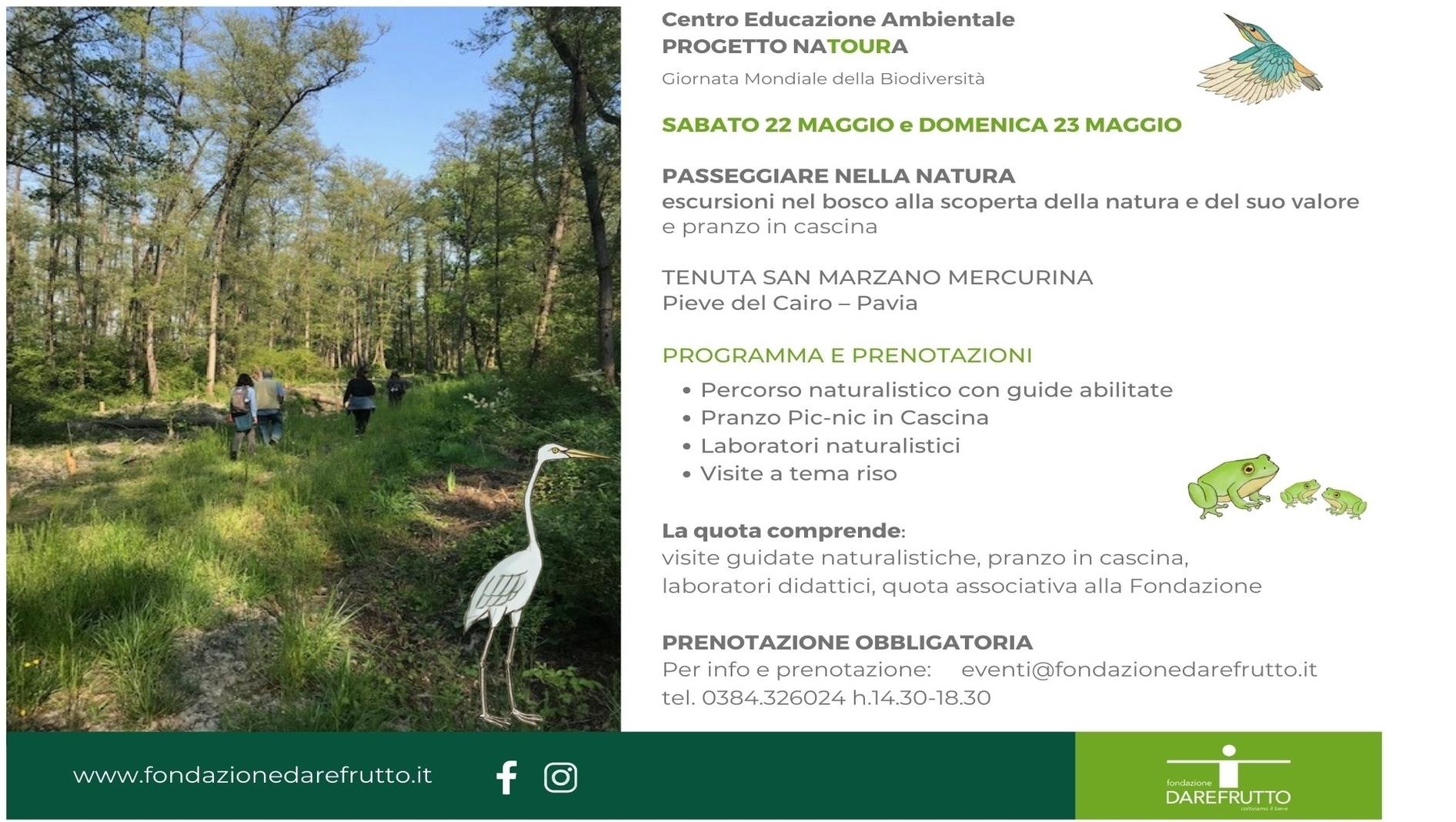 Il 22 e 23 maggio, Passeggiare nella Natura