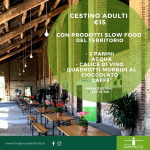 Pic nic in cascina con la Fondazione Darefrutto: menu adulti