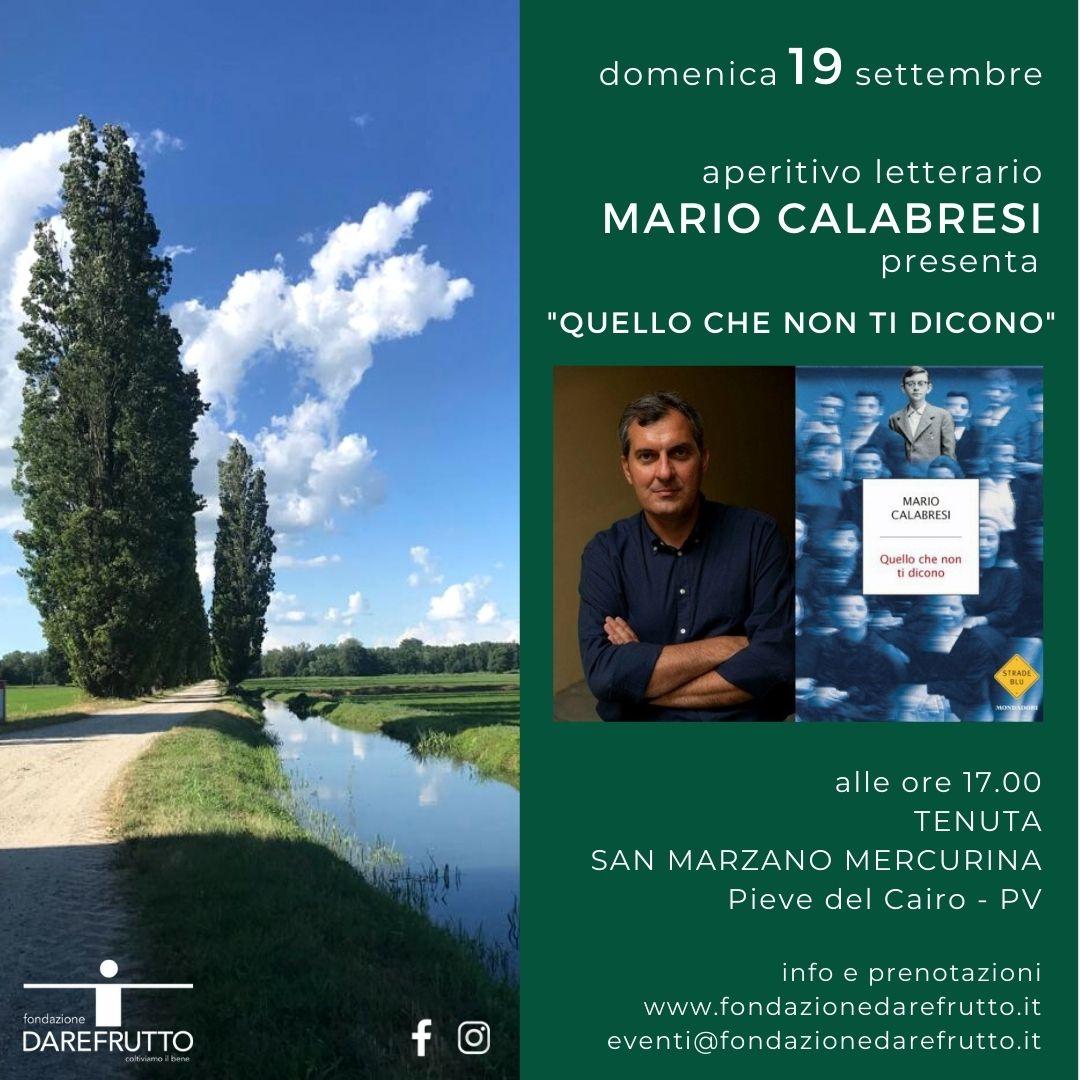 aperitivo letterario con Mario Calabresi alla tenuta San Marzano Mercurina